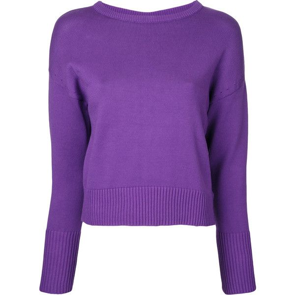 Le Ciel Bleu knotted bow jumper (8.725 RUB) ❤ liked on Polyvore featuring tops, sweaters, bow sweater, purple jumper, le ciel bleu, jumpers sweaters and purple top