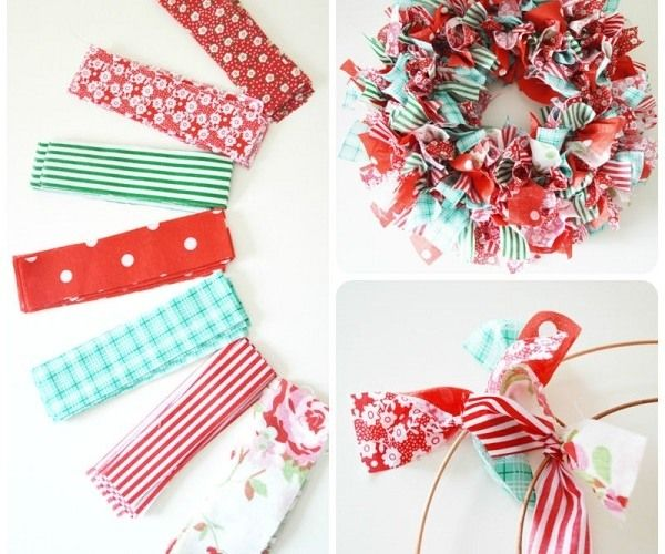 How to make a rag wreath DIY wreath ideas easy decoration ideas