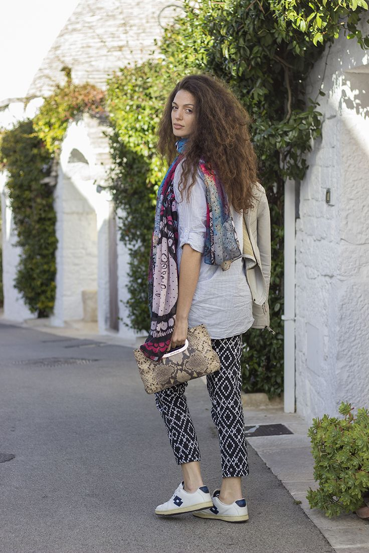 mix and match, geometric trousers