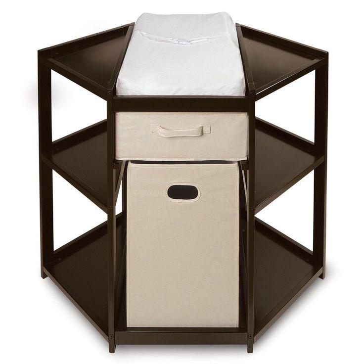 Espresso Corner Changing Table   Overstock.com Shopping - Big Discounts on Badger Basket Changing Tables