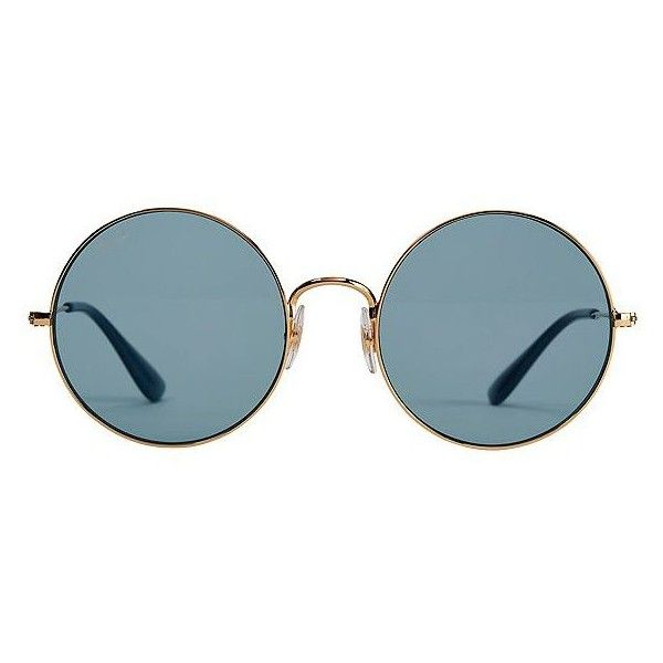 ray ban round sunglasses look alike  ray ban women's the jajo blue round sunglasses ($165) ? liked on polyvore