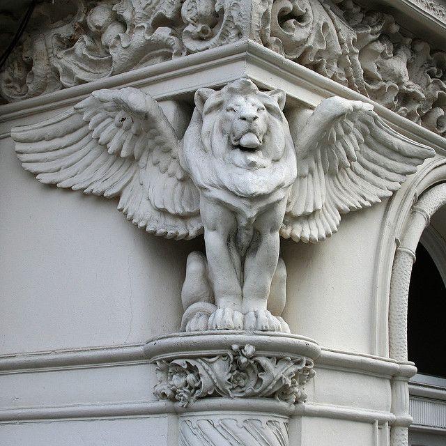 Winged lion tattoo - photo#13