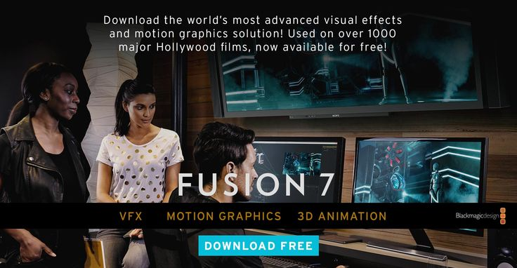 Video technology company Blackmagic has just made Fusion 7, the visual and motion graphics software free to download. A premium version, Fusion Studio 7 is available for just under a thousand dollars. Click through to download. #software #video