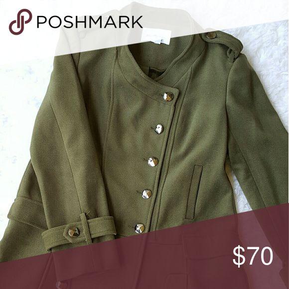 BCBG Generation Olive Green Coat Olive green trench coat from BCBG generation BCBGeneration Jackets & Coats Pea Coats