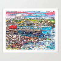 Art Print featuring Nova Scotia Boats by Juliana Kroscen
