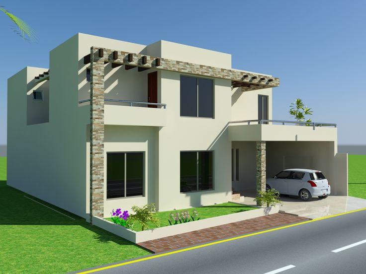 Front Elevation Com 10 Marla House Design Mian Wali Pakistan