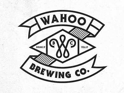 Wahoo Brew. Co. 03  by Pavlov Visuals: Dribbbl, Design Identity, Graphics Design, Design Spire, Wahoo Brewing, Beer Logos, Pavlov Visual, Typography, Visual Logos