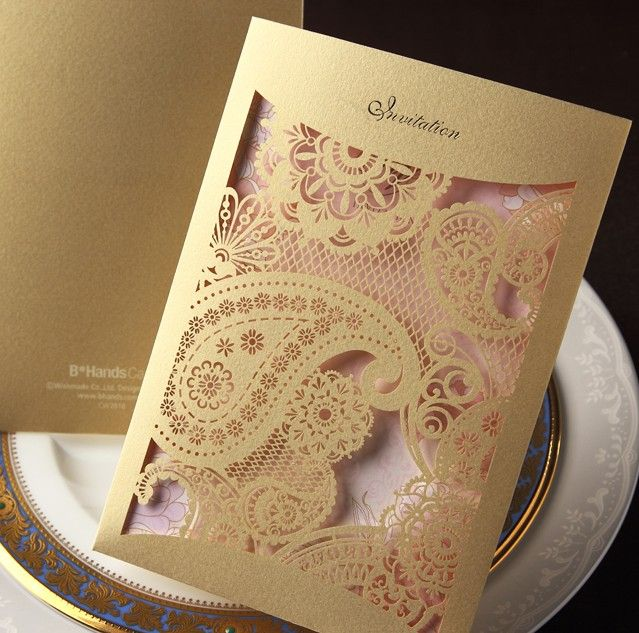 / hollow out invitations high end custom DX3121 creative business ...