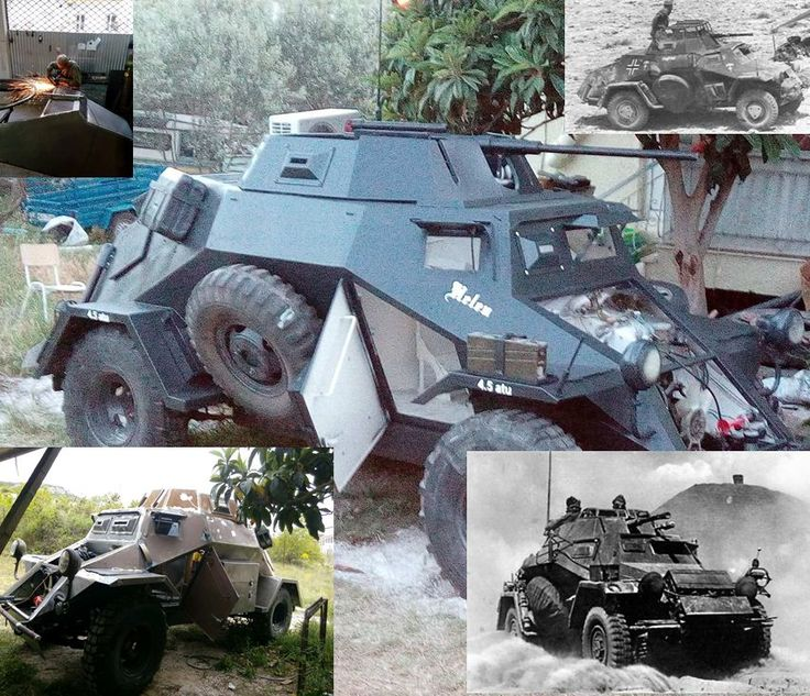 WW2 vehicles: A German SdKfz 222 built from scratch