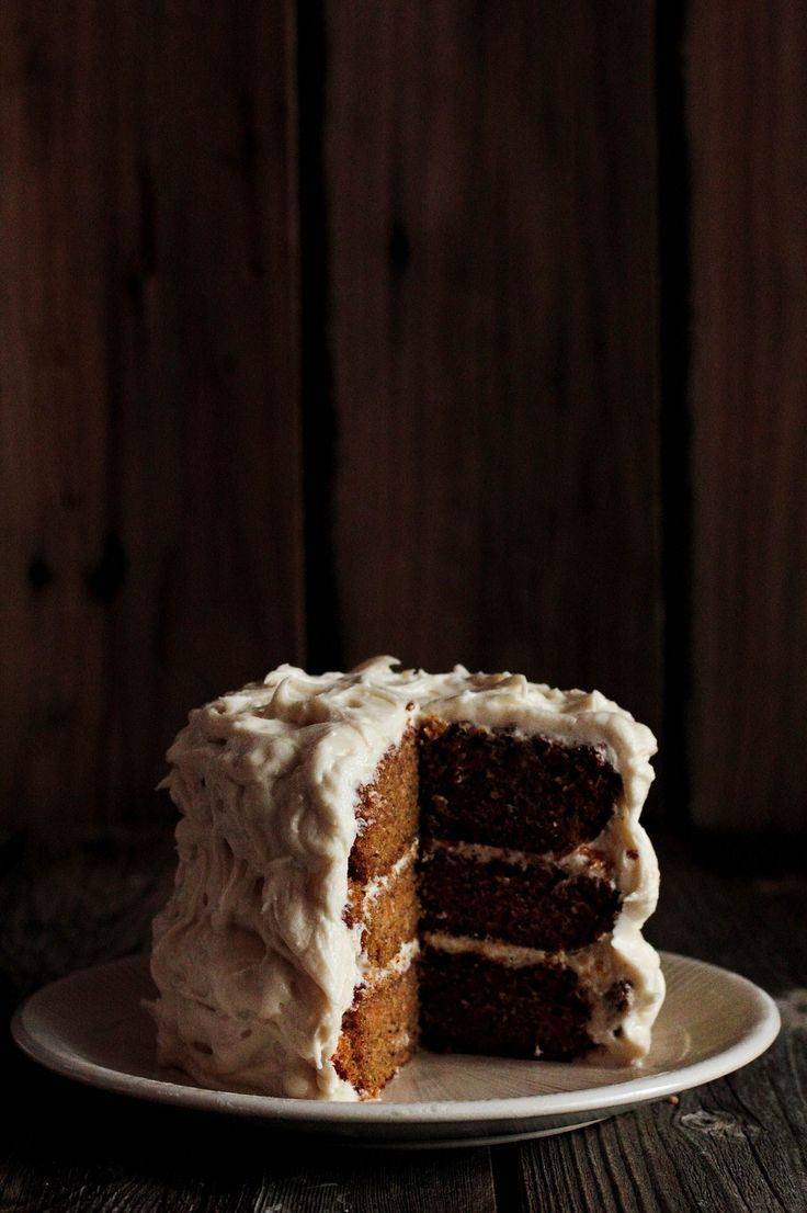 Butternut squash cake with cream cheese Icing