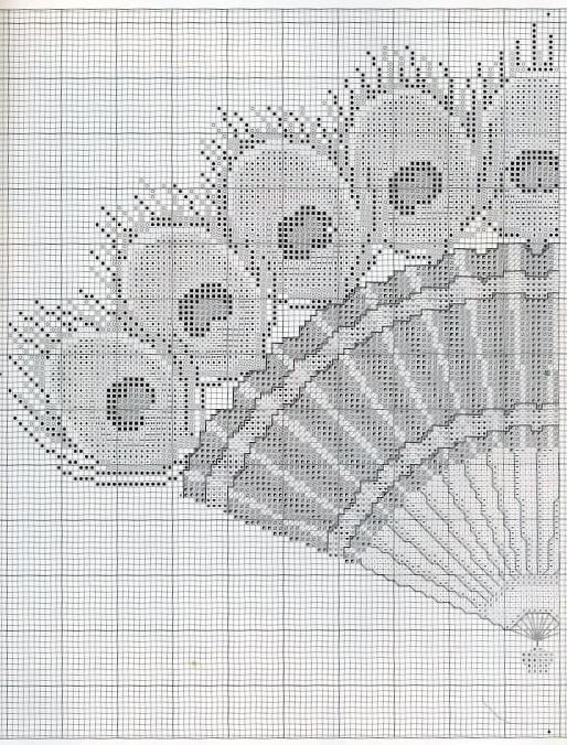 Peacock ornate fan