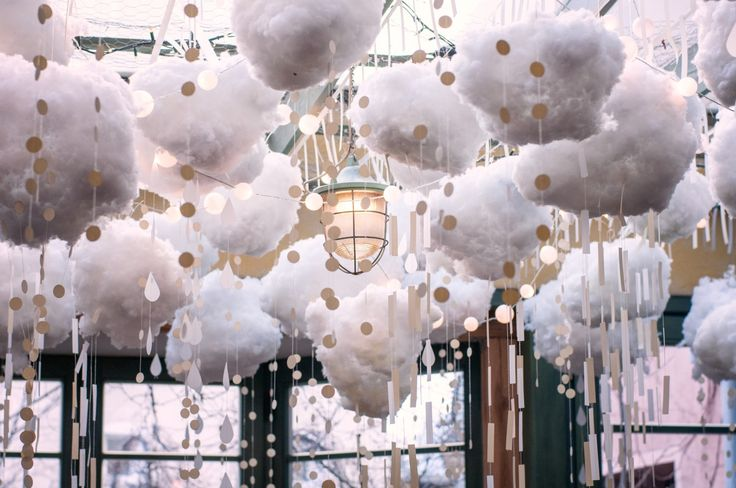 Snow all around! Beautiful, sparkling, snowing decoration at Zielona Weranda cafe&restaurant, Poznan, Poland.  Check our website! http://werandafamily.com/en/  #werandafamily #restaurant #decor #decoration #interiordesign #winter #food #ambiance
