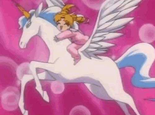 kawaii anime gif |  CAUSE IM A UNICORN !!!!!