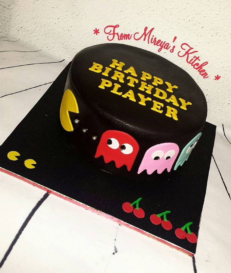 On instagram by mm_in_nyc #arcade #microhobbit (o) http://ift.tt/2qJAiB2 #cake was made with sooooo much love!! For my birthday boy  @jcollado70 . Hope you enjoy this coquito cake yummy.  Thank you @sweetcreationsbysusie!! #pacman  #games never gets old #cakestagram #retro