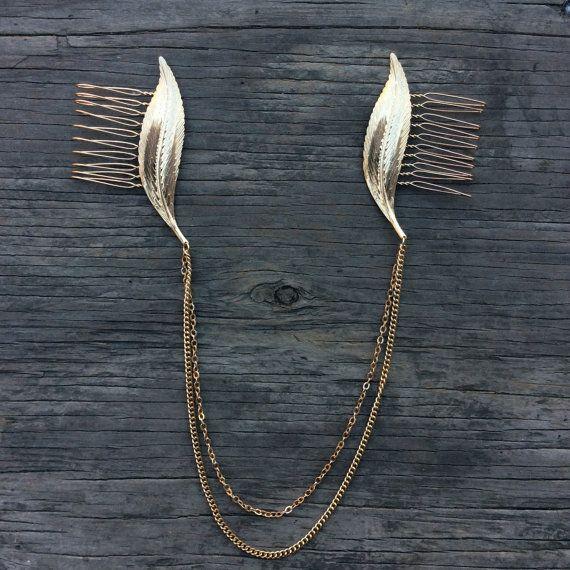 SALE Hair Chain Boho Head Crown Chain And Leaves by KARAandKATE