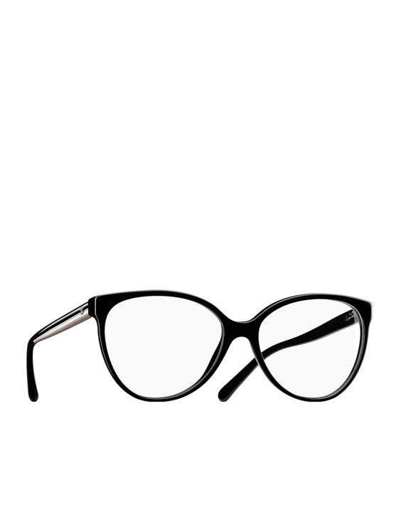 Óculos de grau oversized em acetato... - CHANEL