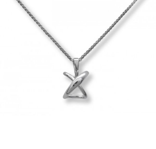 "Argo & Lehne Jewelers, Secret Heart Pendant in sterling silver. If you look at the pendant from the bottom there is an ""O"", an ""X"" from the side and a heart symbol from the top. We love this pendant! xo"