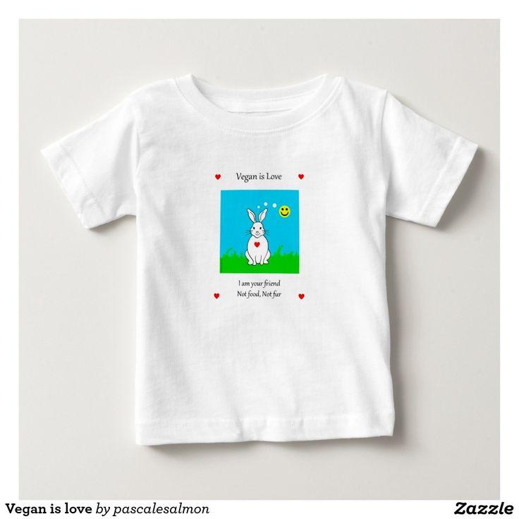 Vegan is love t-shirt pour bébé