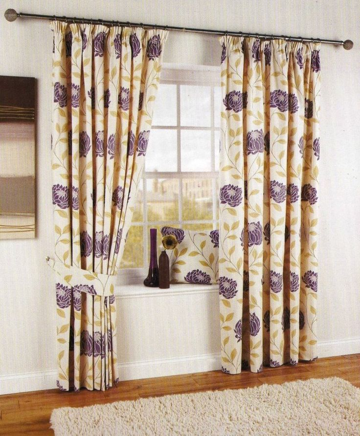 RUBY DESIGN Pair Of Pencil Pleat Fully Lined 66 X 72 Cotton Curtains AUBERGINE CurtainsBlinds CurtainsBedroom