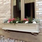 Fairfield 11 in. x 60 in. Plastic Window Box, Clay