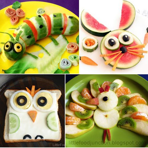 This website with cute, creative ideas for fun food #FoodArt #FunFood