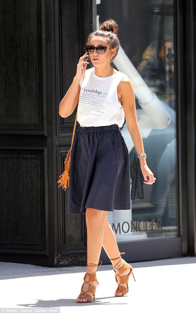 Moving up: Out and about in plush Beverly Hills, Michelle Keegan visited top Hollywood age...