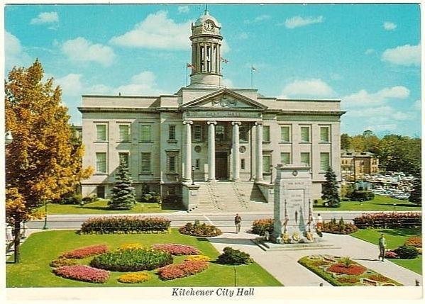 Old KItchener City Hall on post card