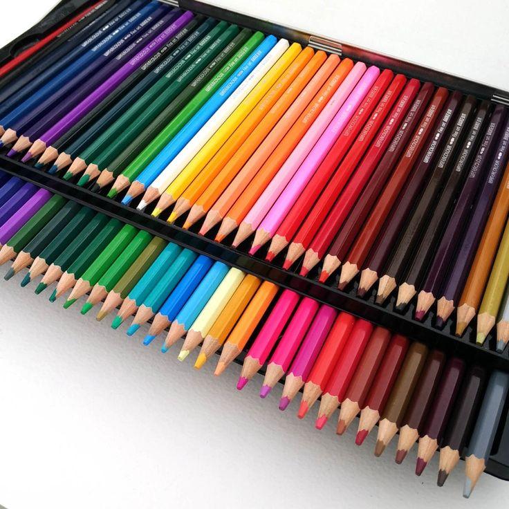 Baoke 72 Soft Colored Pencils Watercolor lapis de cor Professional 72 cores Non-toxic Lead-free Colored Pencil Set Art Supplies