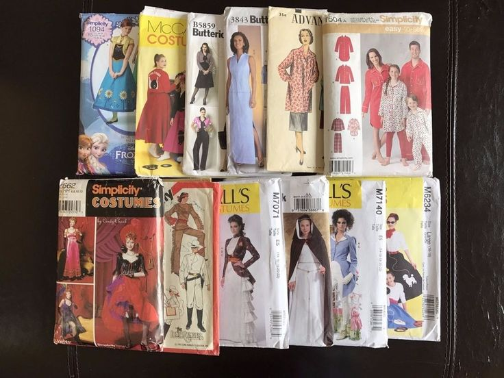 Uncut Sewing Patterns Simplicity McCalls Lot of 12 Costumes Family PJs Womens #McCallsSimplicityButterick