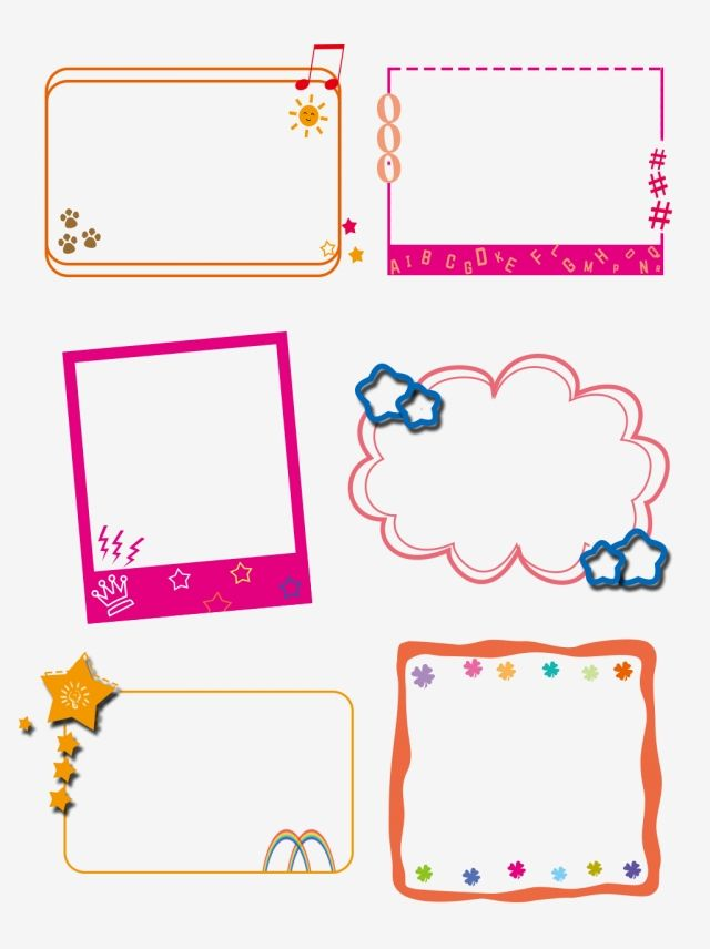 Cute Cartoon Border Elements Lovely Cartoon Border