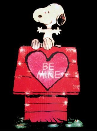 Snoopy on Doghouse Valentine's Day Lighted Window Decor - REDUCED PRICE!
