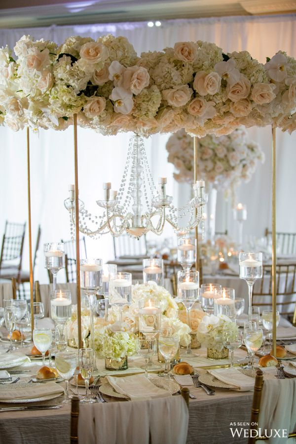 Long Island Love Wedluxe Magazine All White Wedding Wedding Flower Inspiration Reception Decorations