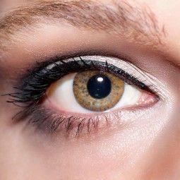 Braune Kontaktlinsen farbige hellbraune Linsen Cappuccino von KwikSibs, 1-farbig ohne Stärken (Plan)