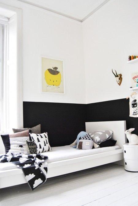 Salón en blanco y negro