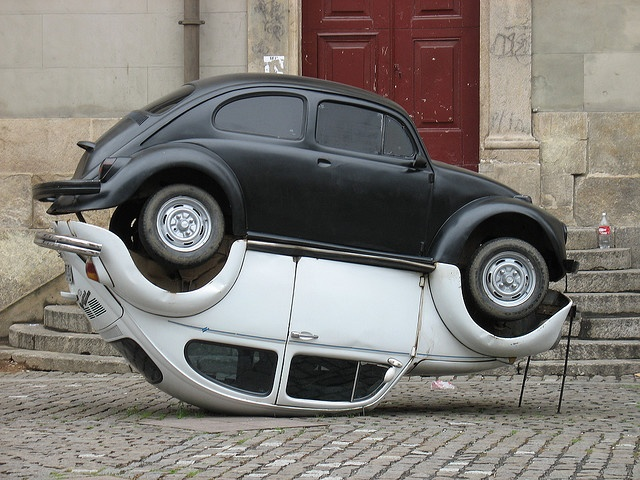 Beetle ying & yang.  I can just see this rolling down the street...