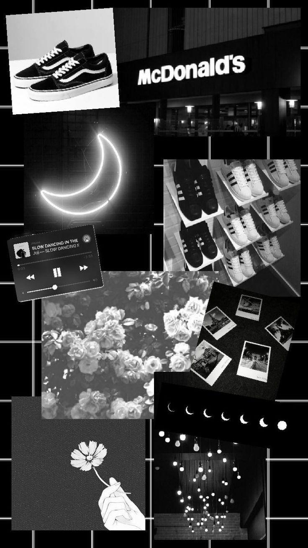 black & white Black aesthetic wallpaper, Aesthetic