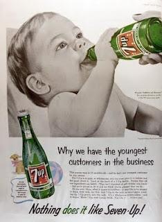 7Up  #ads #marketing #creative #Print Ads #publicidad gráfica. Entre en el fantástico mundo de elcafeatomico.com para descubrir muchas más cosas! #advertising #retro #vintage