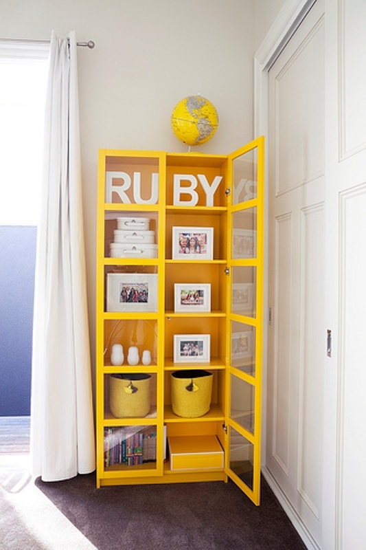 Incredible Kids Room Design In White And Yellow Colors