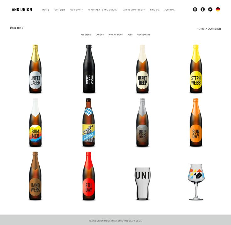 andunion.com was built with our Shopkeeper theme. It stands for modernist Bavarian craft beer https://themeforest.net/item/shopkeeper-ecommerce-wp-theme-for-woocommerce/9553045?utm_source=pinterest.com&utm_medium=social&utm_content=andunion&utm_campaign=showcase #bavarian #beer #showcase #website #UX #webdesign #wordpress #gooddesign