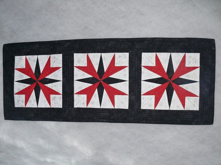 świąteczny bieżnik, patchwork, metoda paper piecing