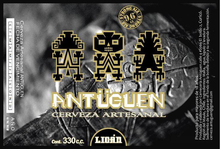 etiqueta de cerveza artesanal Antuguen