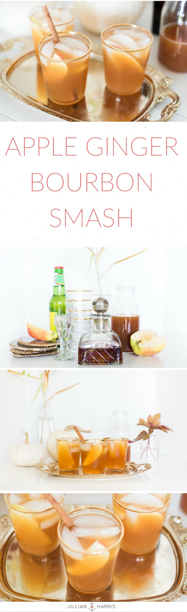 Jillian Harris Apple Ginger Bourbon Smash Cocktail Recipe