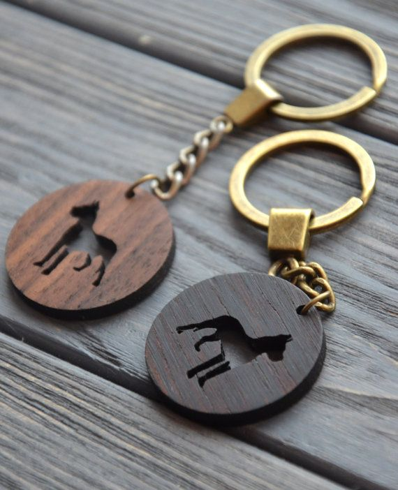 Dog One wooden key Style Wooden keychain Dogs lovers Customization Add the name…