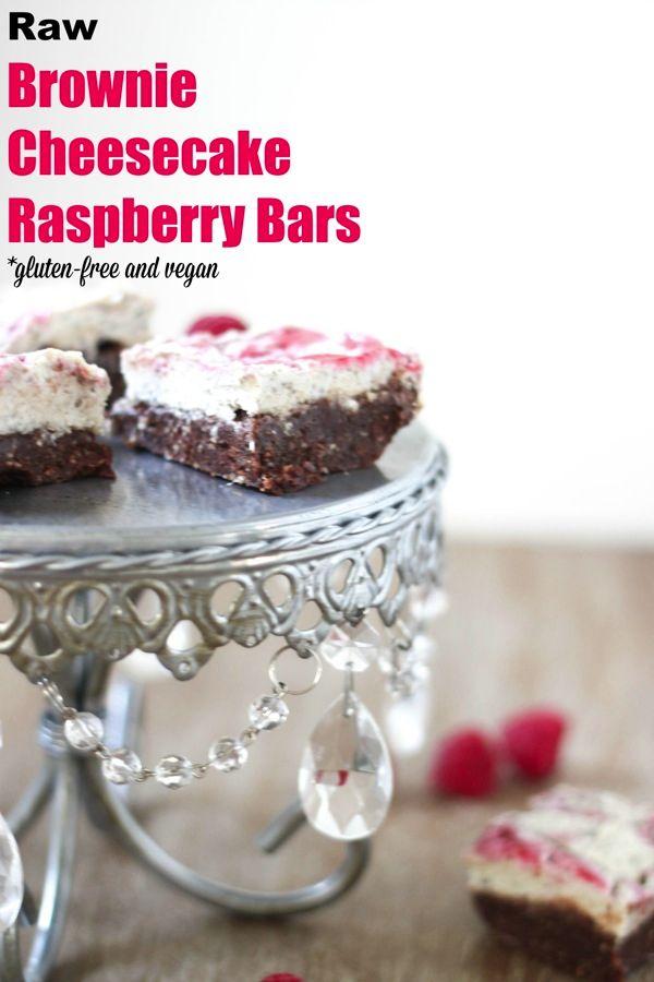 You'll Love These Raw Brownie Cheesecake Raspberry Bars