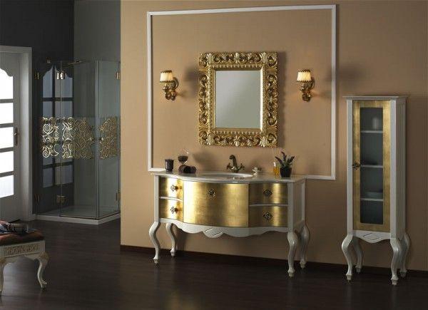 Varaklı Avangard Banyo Dolabı ve Aynası   En Güzel Banyo Modelleri   avant-garde bathroom vanities and mirrors