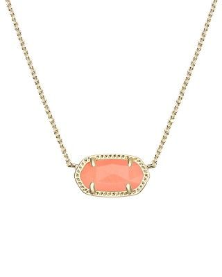 Elisa Pendant Necklace in Coral