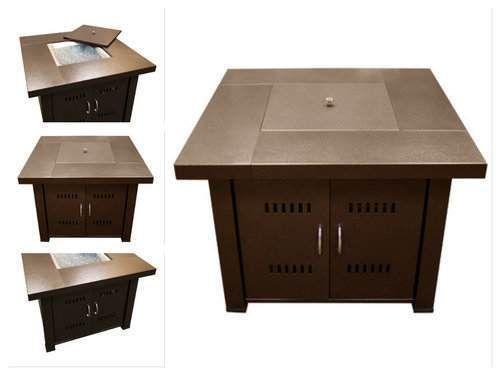 Outdoor-Gas-Fireplace-Propane-Firepit-Patio-Heater-Deck-Table-Kit-Backyard-Steel