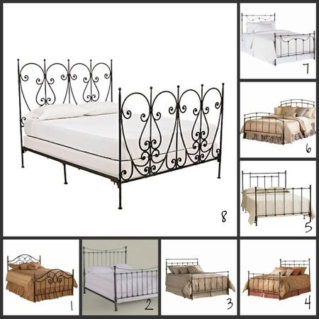 Wrought Iron Bed Frames Georgian Wrought Iron Bed Frame With Elegant Grey Carpet For Classic
