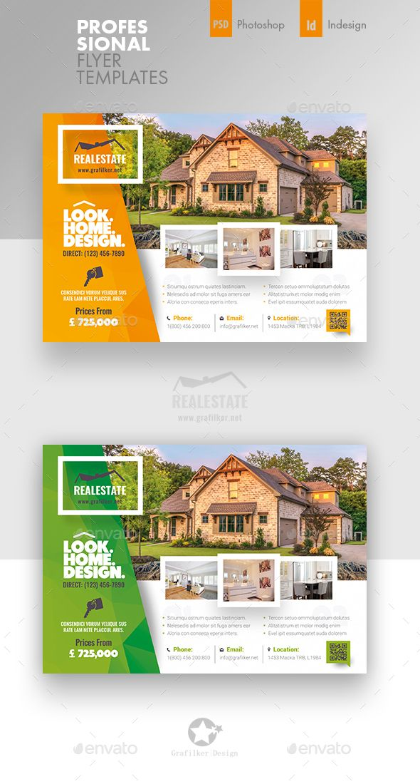 Real Estate Flyer Templates PSD, InDesign INDD Flyer Templates