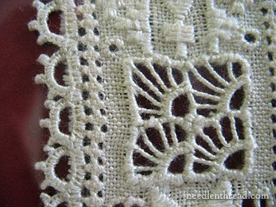 Lefkara Lace from Cyprus  It looks very much like needle lace.